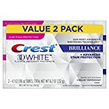 white Crest 3D White Brilliance Vibrant Peppermint Toothpaste, 4.1 oz Twin Pack