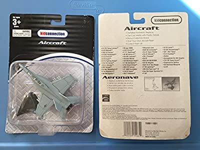 Maisto Fresh Metal Tailwinds 1:87 Scale Die Cast United States Military Aircraft - U.S. Navy Supersonic Carrier-Capable Fighter/Attack Jet Aircraft F/A-18E Super Hornet with Display Stand