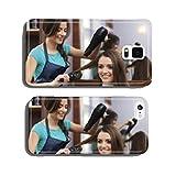 Hair Brush Phone Case Female hairdresser using hairbrush and hair dryer cell phone cover case Samsung S5