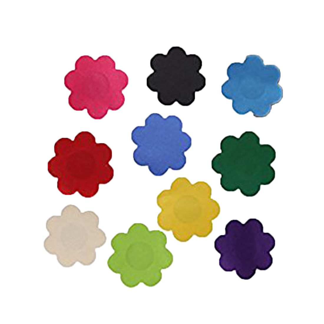 FLORATA Ladies Flower Shaped Self Adhesive Stickers Breast Nipple Covers Pasties Disposable Invisible Tape FLO@M2027-B-CN-LSY-BB