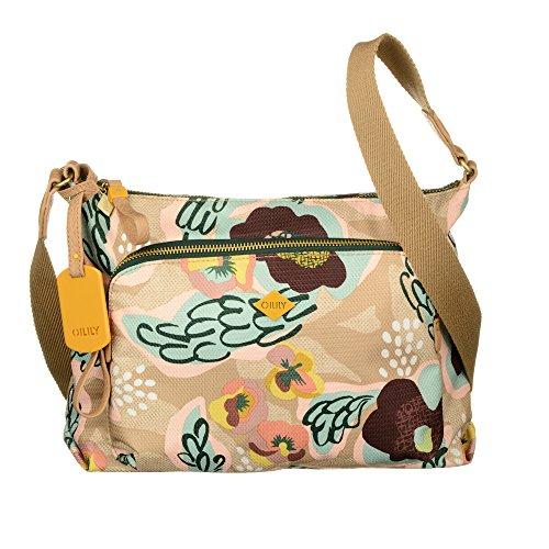 Oilily Tasche - Violets - Shoulder Bag - Biscuit
