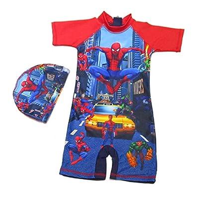 Swim Suits Boy Spider-Man Boys Rash Guard One Piece Swim Wear Sets for Boys