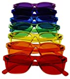 Classic Style Color Therapy Glasses - Set of 7
