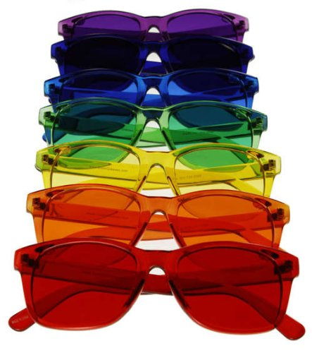 Classic Style Color Therapy Glasses - Set of - Sunglasses Chakra