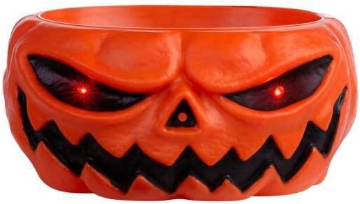 Home Accents Holiday 10.5 in Animated LED Pumpkin Trick-or-Treat Candy Bowl