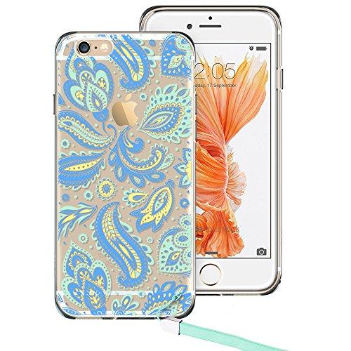 iPhone ESR Mandala Pattern Cyan Paisley