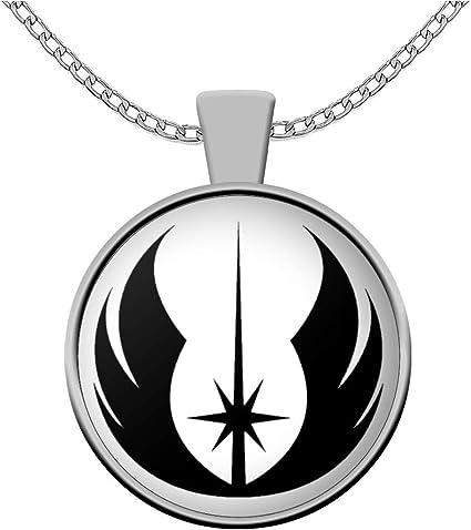 Mens necklace Star Jedi Order Logo Emblem Pendant Necklace Inspired Pendant Necklace Glass Cabochon Necklace
