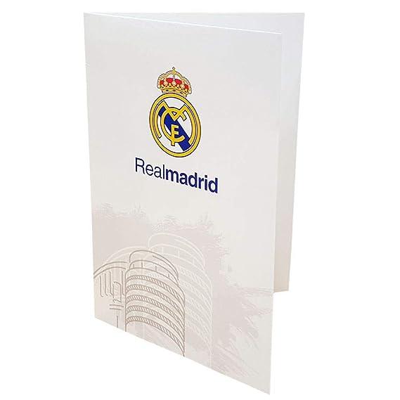 Real Madrid CF - Tarjeta blanca (Talla Única) (Blanco ...