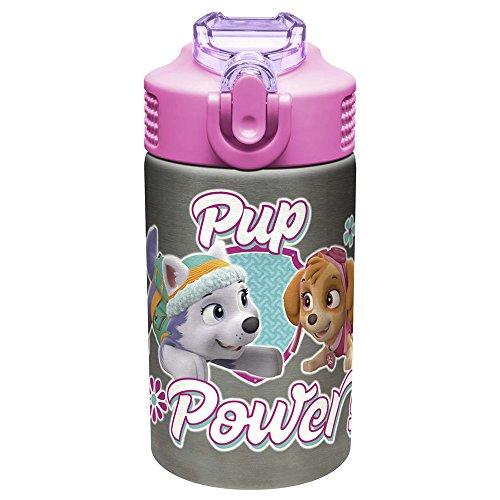 Zak Designs Paw Patrol 15.5oz Stainless Steel Kids Water Bot