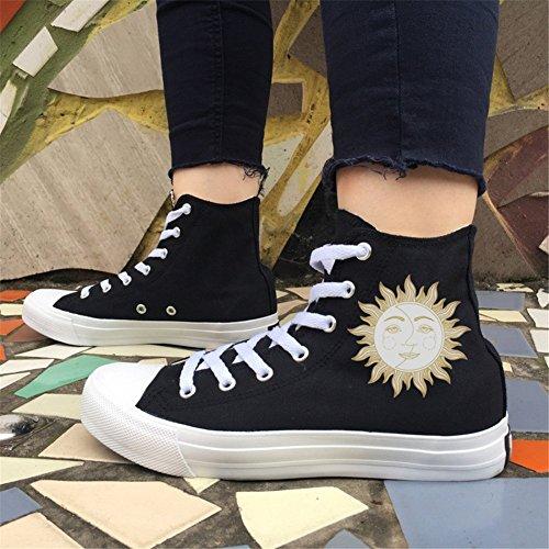 Compras Metal Amantes para Zapatos Deck de Ocio Diario Zapatos Wind Fashion Lona de el Shoes Mujer Spring Ocasionales Un Canvas Fall 8qHzwx