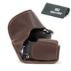 "MegaGear ""Ever Ready"" Protective Leather Camera Case, Bag for Sony Alpha A6000, A6300 with 16-50mm"