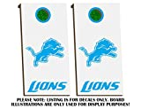 Detroit Lions Cornhole Board Decals - SKY BLUE - Fit for Bean Bag Toss Outdoor Game Sticker Set - Die Cut - Novelty Decals