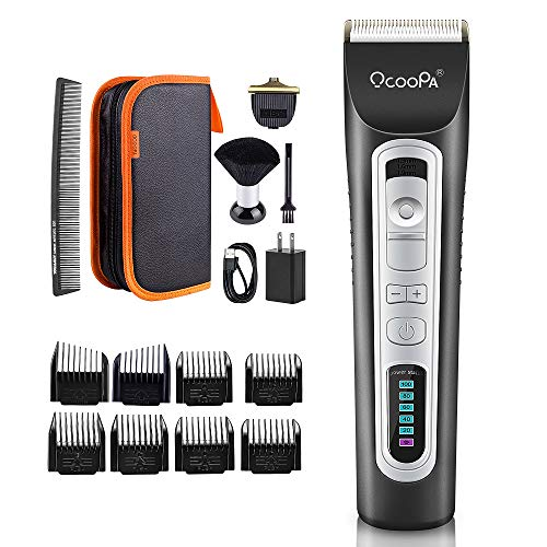 Cordless Beard Trimmer, OCOOPA Professional Hair Clippers for Men Rechargeable Electric Beard Trimmer Grooming Kit Perfect Gift for Dad Boyfriend with Storage Bag