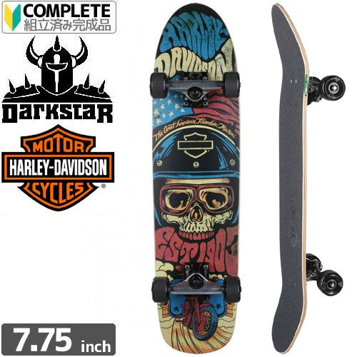 ダークスター DARKSTAR スケートボード コンプリート HARLEY-DAVIDSON LEGEND クルーザー [並行輸入品] 7.75インチ  B073PXGGCX