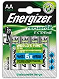 Energizer 2300MAh AA Accu Recharge Extreme Batteries, 4 Batteries