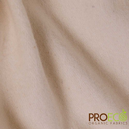 ProECO Bamboo Fleece Fabric (Made in USA, Natural, Sold by The Yard)