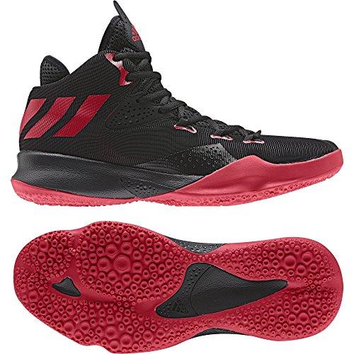 adidas Herren Dual Threat 2017 Basketball Turnschuhe Mehrfarbig (Black, Red 001)