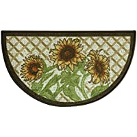 Bacova Guild Classic Berber Skid-Resistant Accent Rug, Slice Sunflower Frie, 32x18