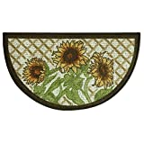 Bacova Guild Classic Berber Skid-Resistant Accent Rug, Slice Sunflower Frie, 32″x18″ For Sale