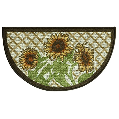 Sunflower Accent - Bacova Guild Classic Berber Skid-Resistant Accent Rug, Slice Sunflower Frie, 32