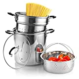 Cook N Home 4-Piece Stainless Steel Pasta Cooker