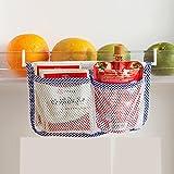 Italish Refrigerator Fridge Storage Hanging Pocket Bag Container