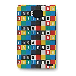 Leather Folio Phone Case For Samsung Galaxy S2 Leather Folio - Bazinga! Wallet Lightweight