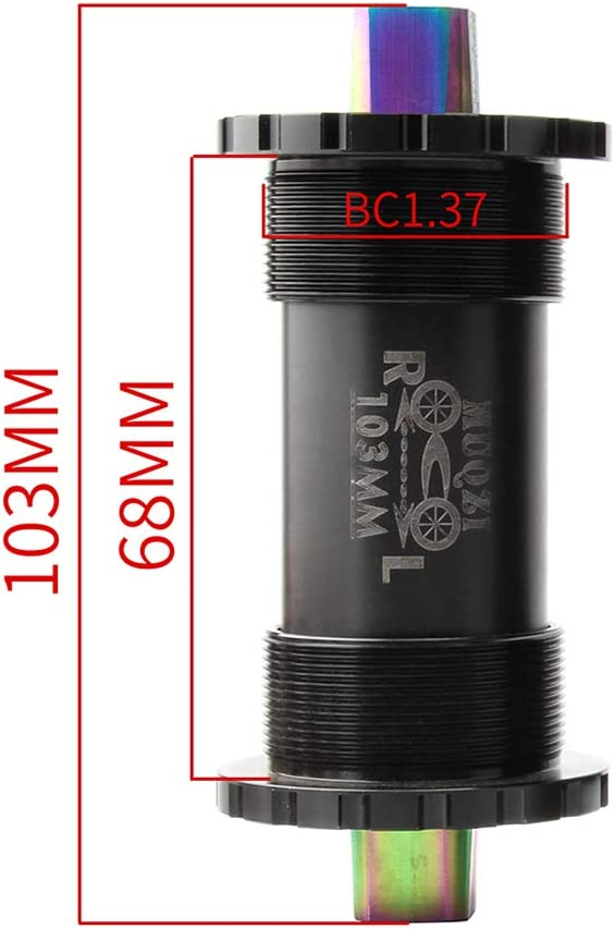 LIOOBO Bicycle Bottom Bracket Bike Central Axis Compression Shaft
