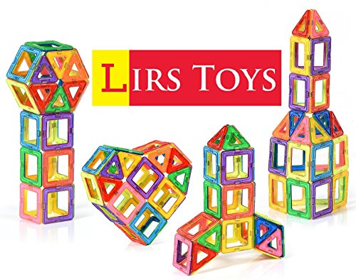 Lirs Toys Set of 30-Pcs Magnetic Building Blocks - Magnetic Building Tiles (Best Sellers Tile)