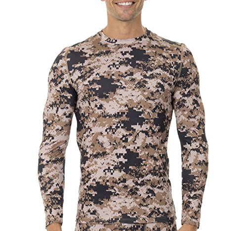 Russell Men's Voltage Performance Baselayer Thermal Top/Shirt (Camo, XL) (Camouflage Thermal Shirt)