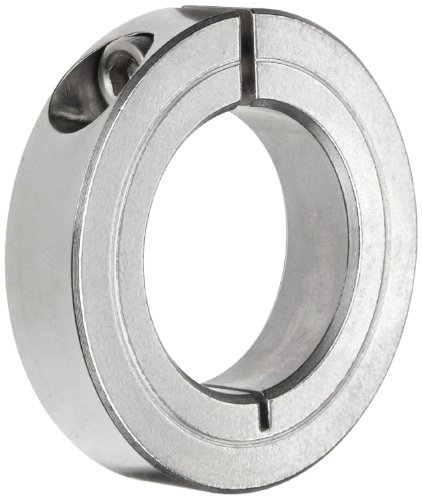 Climax Metal H1C-031-S Shaft Collar, One Piece, Clamp Style, Stainless Steel, 5/16