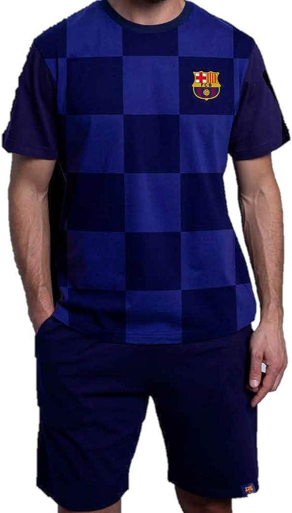 Pijama JR DE Verano Futbol Club Barcelona 2020: Amazon.es ...
