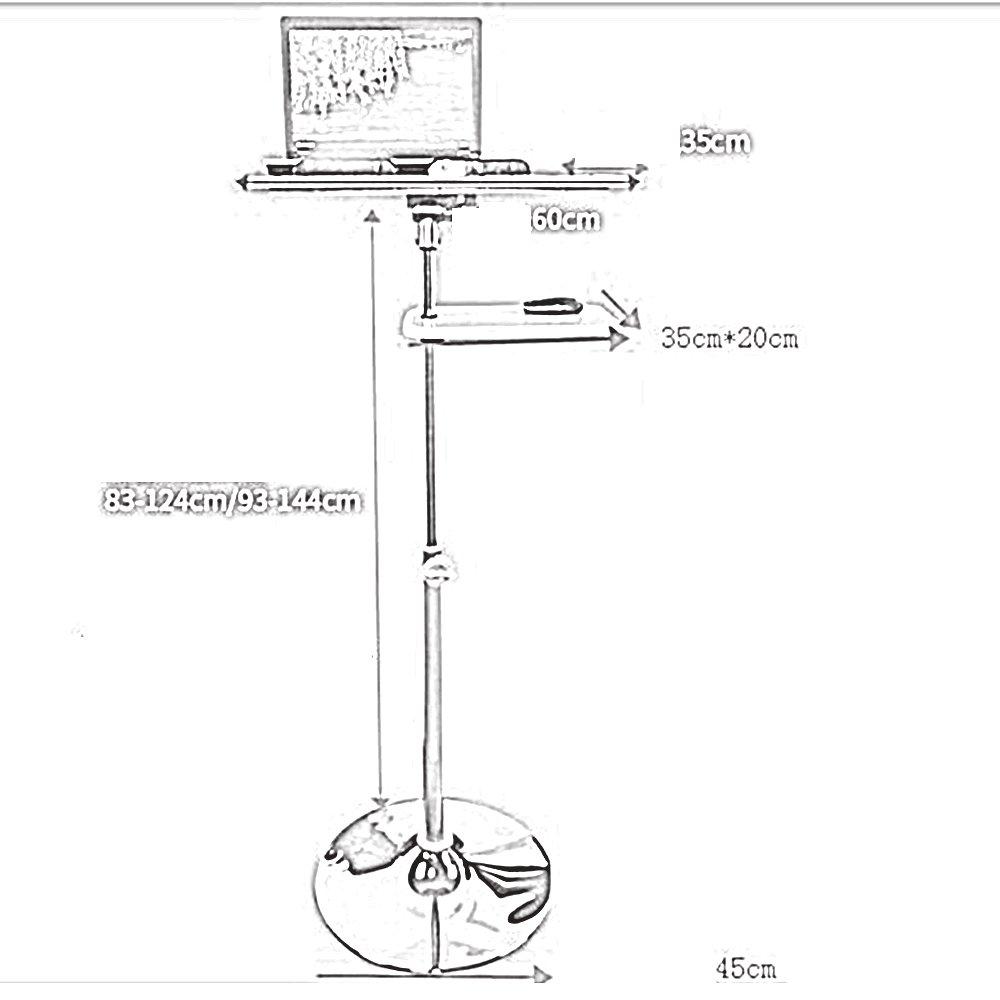 XIAOLIN モバイルオフィスデスクシンプルモダンデスクコンピュータデスクラップトップデスク会議用テーブルブックテーブルオプションのサイズ (サイズ さいず : Height 93-144cm) B07F3HW1VCHeight 93-144cm