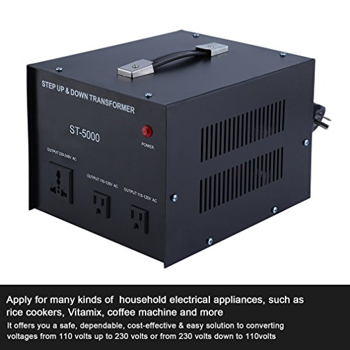 Homgrace 5000 W Voltage Converter Transformer, Heavy Duty Step Up and Down 110-220V (ST-5000 W) by Homgrace (Image #5)