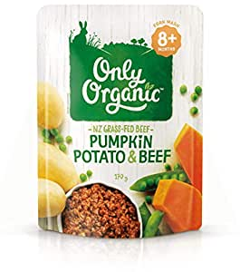 Only Organic Pumpkin Potato & Beef  8+ Months - 170g