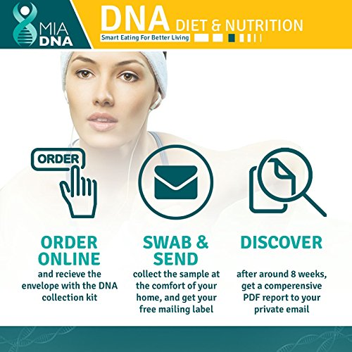 MiaDNA Genetic Home DNA Test Kit & Nutrition personal uncover your dietary profile and response food! plan tailored for you genetic analysis!