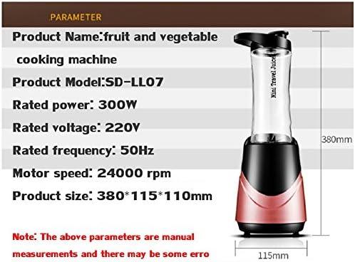 DULPLAY Licuadora personal, Smoothie maker, Licuado de frutas eléctrico, (23, 000 RPM), Licuadora personal Plástico del abs Portátil Bpa liberan Tritan 2 botella de deporte -rosado 38x11.5x11cm(15x5x4inch): Amazon.es