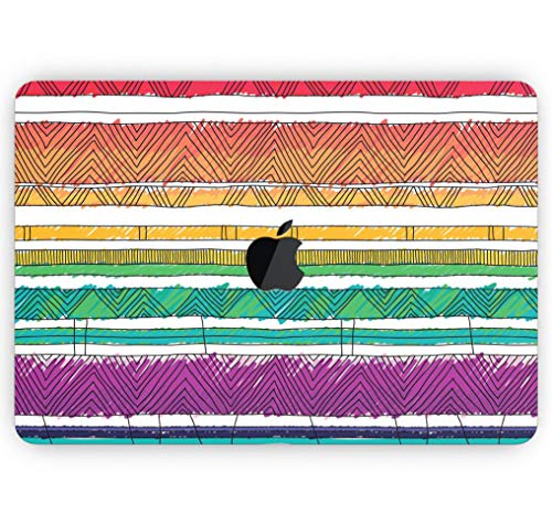 Crayon Colored Doodle Patterns - Design Skinz Premium Full-Body Cover Wrap Gloss Finished Decal Skin-Kit for The MacBook Pro 13