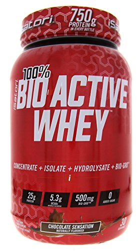 ISATORI 100% BIO-ACTIVE WHEY PROTEIN CONCENTRATE - ISOLATE - HYDROLYSATE + BIO-GRO CHOCOLATE SENSATION 30/SERV Active Protein