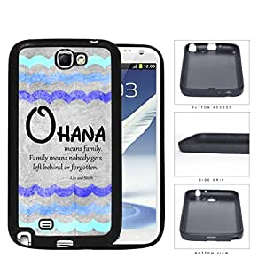 Ohana Means Family Blue Color Tone Waves Samsung Galaxy Note II 2 N7100 Rubber Silicone TPU Cell Phone Case by lolosakes
