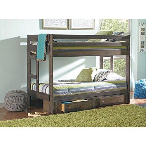 Coaster Twin/Twin Bunk Bed (Gun Smoke), 400831