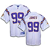 Minnesota Vikings NFL Erasmus James #99 Men's Replica Jersey, White
