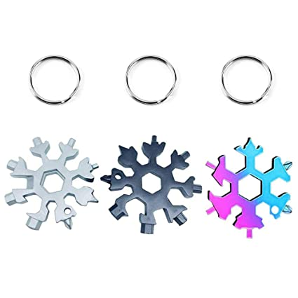 AOLVO 18 en 1 Snowflake Multi-Tool Card Outdoor ...