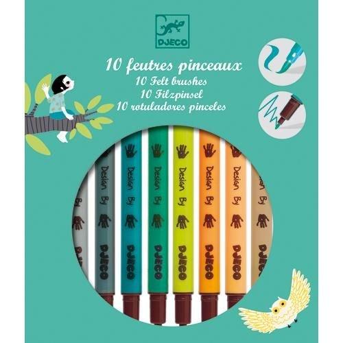 Free Djeco - 10 feutres pinceaux
