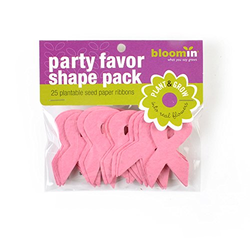 (Bloomin Seed Paper Shapes Packs - Ribbon Shapes - 25 Shapes Per Pack - 1.4x2.4