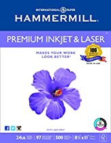 Hammermill Paper, Premium Ink & Laser Poly Wrap, 24lb, 8.5x11, Letter, 97 Bright 500 Sheets / 1 Ream (166140R) Made In The uSA