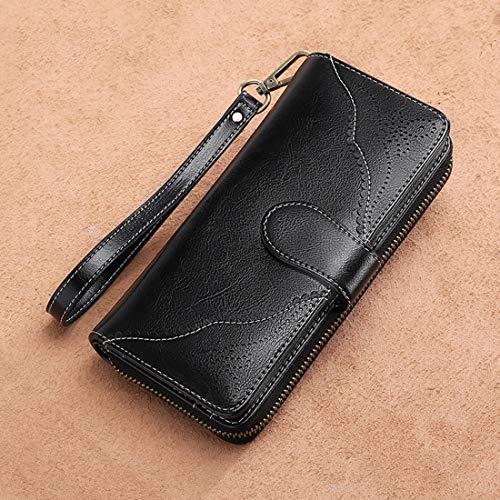 In Borse Karidesh Zip Donna Portafoglio Pelle Handbags Black color Grande Con Da Capacità Lunga A Yellow Clutch SAAqT5w