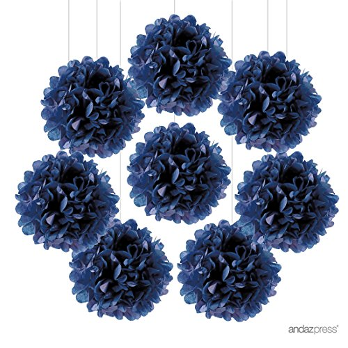 Andaz Press Tissue Paper Pom Poms Hanging Decorations,