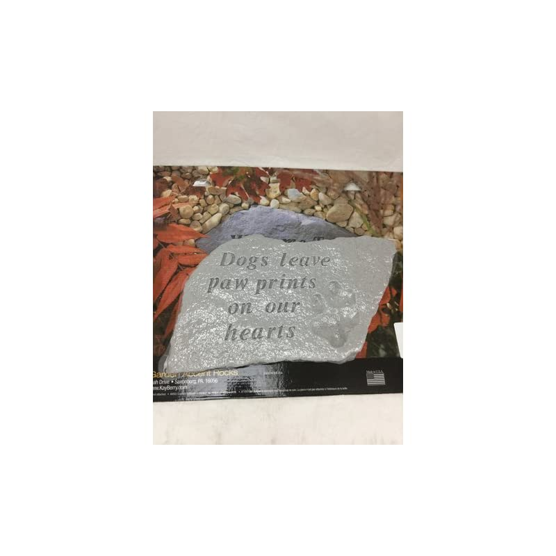 dog supplies online kay berry inc dogs leave paw prints garden accent stone