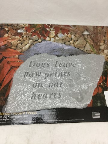 Kay Berry Inc Handmade Dogs Leave Paw Prints Accent Stone (Dogs Leave Pawprints On Our Hearts Stone)